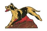 Harlequin Great Dane Giclee Print
