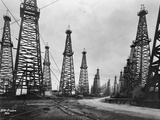1900s Famous Spindletop Oil Field in Beaumont, Texas Photographic Print