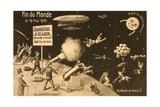 """Souvenir Postcard for """"La Fin Du Monde"""" Giclee Print"""