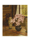 Azalea in a Japanese Bowl, with Chinese Vases on an Oriental Rug, in an Interior Giclee Print by Jessica Hayllar