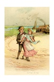 David Copperfield and Little Emily Giclee Print by Frances Brundage