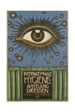 International Hygiene Exhibition Poster with Eye Giclee Print