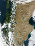 Patagonian Andes Mountains Separating Chile and Argentina Photographic Print