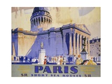 Paris Short Sea Routes Giclee Print by Frederick Griffin