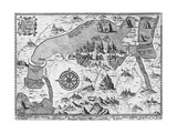 Map of Mexico City and Environs Engraving Giclee Print