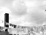 Laundry Drying on Clotheslines Photographic Print by Jack Delano