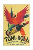 Macaws with Bottle of Toni-Kola Liqueur Giclee Print