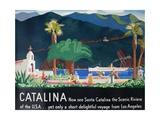 Catalina Island Travel Poster Giclée-Druck