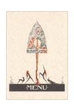 Art Nouveau Menu Giclee Print