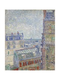 View from Theo's Apartment Giclee Print by Vincent van Gogh