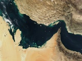 Persian Gulf around the Strait of Hormuz Photographic Print