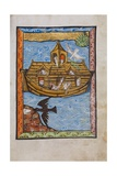 Manuscript Illumination of Noah's Ark Impression giclée