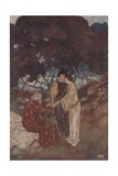 Illustration from The Tempest by William Shakespeare Giclee Print by Edmund Dulac