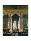The Signing of the Peace Treaty in the Hall of Mirrors, Versailles, June 28, 1919 Giclee Print by William Orpen