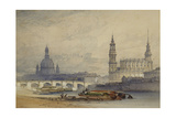 Dresden from the River Elbe Giclee Print by William Callow
