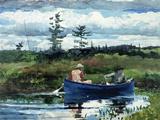 The Blue Boat Giclée-tryk af Winslow Homer