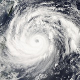 Typhoon Krosa Photographic Print