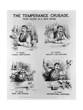 Cartoon of the Temperance Crusade: Four Hours in a Bar Room Giclee Print
