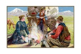 American Settlers of the Old West. Giclee Print
