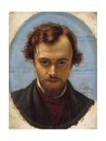 Portrait of Dante Gabriel Rossetti Giclee Print by William Holman Hunt