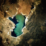 Low-Earth-Orbit View of Lake Poopo Photographic Print