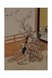 Two Women Seated by a Verandah Giclee Print by Suzuki Harunobu