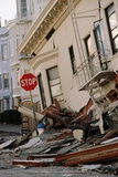 Quake-Damaged Apartment House Photographic Print by Roger Ressmeyer
