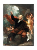 Benjamin Franklin Drawing Electricity from the Sky Giclee Print by Benjamin West
