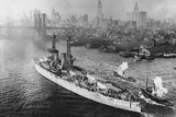 USS Texas in New York's Harbor Photographic Print