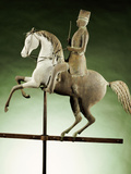 An Extremely Rare and Important Molded Copper and Zinc Worse and Rider Weathervane Photographic Print