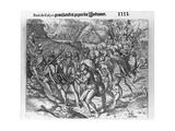 Spanish Cruelties to Captured Indians Giclee Print by Theodor de Bry