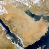 Dust Storm over Arabian Peninsula and Persian Gulf Photographic Print
