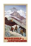 Wengernalp- and Jungfraubahn Poster Giclée-Druck von Anton Reckziegel