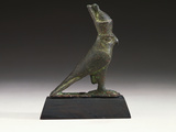 An Egyptian Bronze Figure of a Falcon Photographic Print