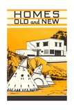 Homes Old and New Giclee Print