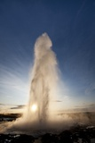 Strokkur Geyser at Sunrise Photographic Print by Paul Souders