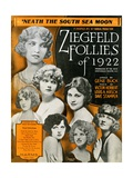 Sheet Music for the Ziegfeld Follies of 1922 Lámina giclée