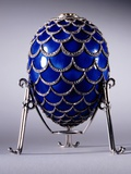 Faberge Pine Cone Egg in its Stand, Workmaster Michael Evlampievich Perchin Photographic Print