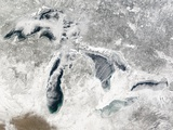 Great Lakes in North America in Winter Photographic Print
