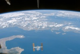 International Space Station over the Ionian Sea Photographic Print