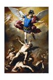 The Fall of the Rebel Angels Lámina giclée por Luca Giordano