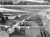 Production Line of B-24 Liberators Photographic Print
