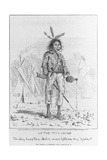 Caricature of Native North American Giclee Print