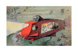 Futurist Personal Submarine as Portrayed in 1912 Giclee Print