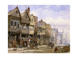 Watergate Street, Chester, Looking West Giclee Print by Louise J. Rayner