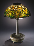 Tiffany Studios 'Daffodil' Leaded Glass and Bronze Table Lamp Photographic Print