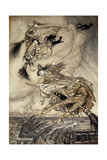 The Ingoldsby Legends: Frontispiece Giclee Print by Arthur Rackham