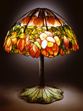 Tiffany Studios Leaded Glass, Bronze and Mosaic 'Lotus' Lamp Photographic Print