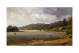 On the Wawayanda Lake, New Jersey Giclee Print by Jasper Francis Cropsey