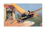 Futurist Personal Plane Taxi or Air Travel as Seen in 1912 Giclee Print